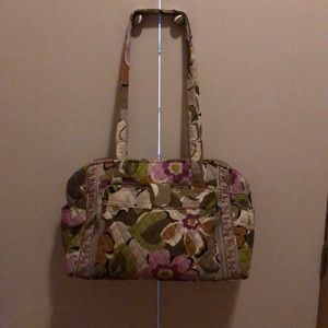 Vera Bradley diaper bag with diaper change mat.